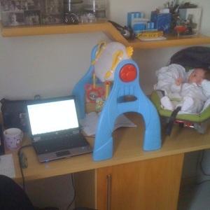 Minha mesa de trabalho durante o Mestrado