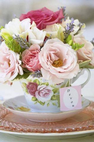 Rosas na xícara