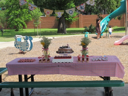 Festa no Parque – Tema Picnic - mesa