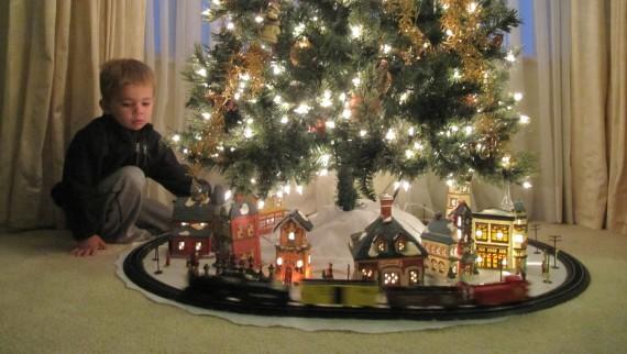 Arvore de Natal com trem