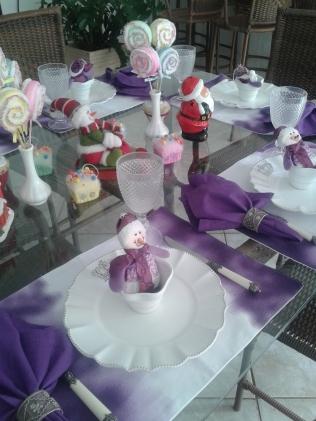 Mesa Natal lúdica lilás 2
