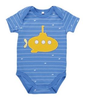 Body menino submarino amarelo