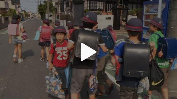 Jornal Nacional - mochilas das crianças japonesas