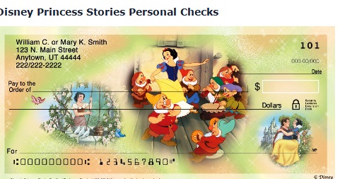 Cheque Princesas Disney