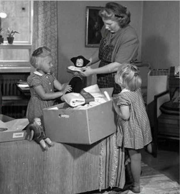 Porque os bebês finlandeses dormem em caixas de papelão-1947